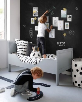 Papier peint Esta Home Scandi Cool Magnetique Ardoise Noir 155001