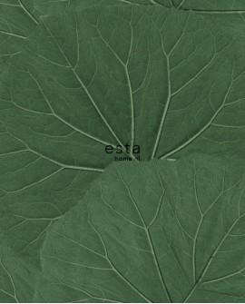 Papier peint Esta Home Jungle Fever Grandes feuilles vert 138996