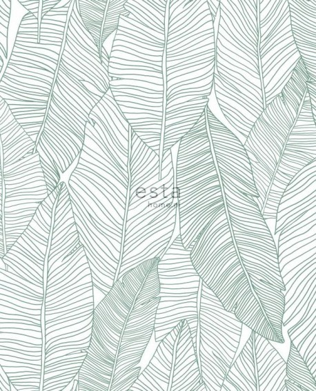 Papier peint Esta Home Jungle Fever Dessins de Feuilles Vert 139010