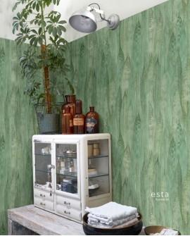 Papier peint Esta Home Jungle Fever Feuilles Vert 138987