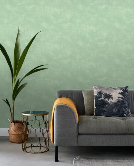 Papier peint Esta Home Jungle Fever Uni Vert 139019