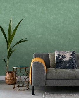 Papier peint Esta Home Jungle Fever Uni Vert 139020