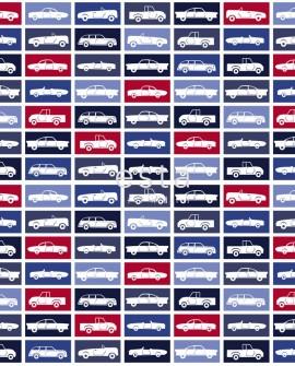 Tissu Esta Home Jimbo Voitures bleu 185805