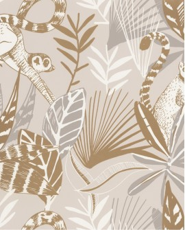 Papier peint Caselio Odyssée Madagascar Beige/doré OYS101401010