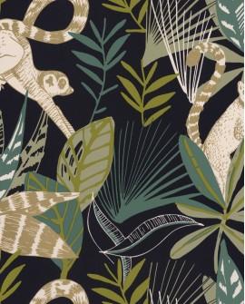 Papier peint Caselio Odyssée Madagascar Noir/vert émeraude/doré OYS101407922