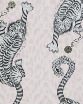 Papier peint Clarke & Clarke Animalia Tigris Pink W0105 /04
