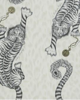 Papier peint Clarke & Clarke Animalia Tigris Monochrome W0105 /02