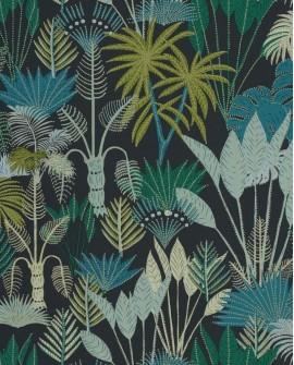 Papier peint tropical Caselio Odyssée Philippines Noir/vert/doré OYS101419901