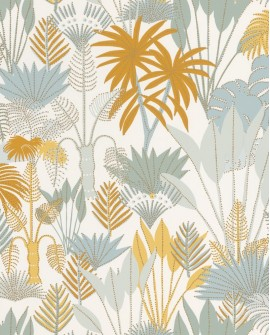 Papier peint tropical Caselio Odyssée Philippines Vert/jaune/doré OYS101417508