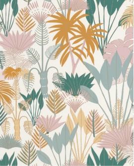 Papier peint tropical Caselio Odyssée Philippines Multi/doré OYS101417607