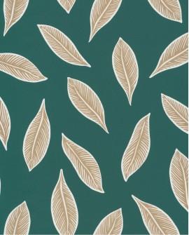 Papier peint tropical Caselio Odyssée Gabon Vert/doré OYS101447802