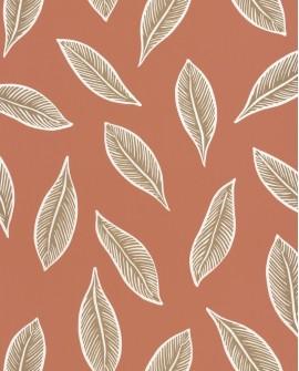 Papier peint tropical Caselio Odyssée Gabon Terracota/doré OYS101443339