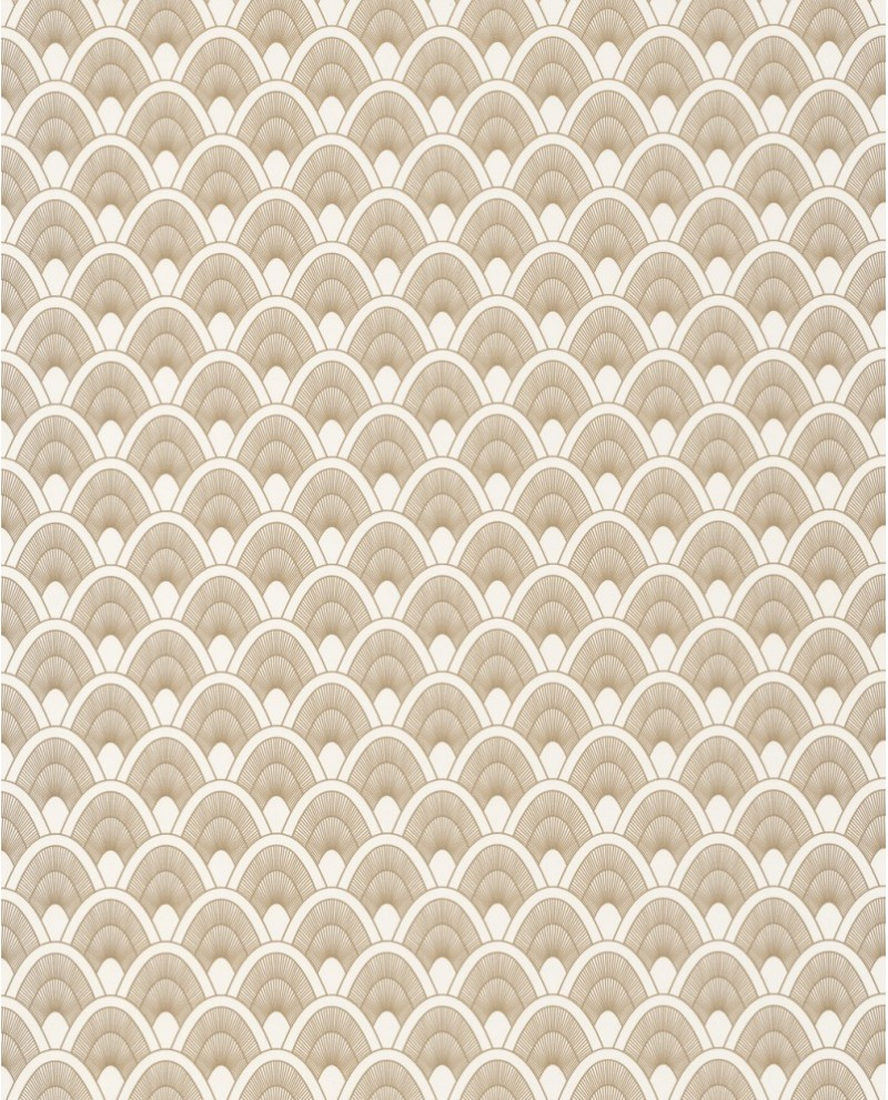 Papier Peint Art Deco Blanc papier peint art déco caselio odyssée mayotte blanc/doré oys101450110