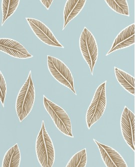 Papier peint tropical Caselio Odyssée Gabon Bleu/doré OYS101446000