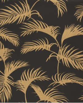 Papier peint tropical Caselio Moonlight Palm Jungle Jaune MLG101252090