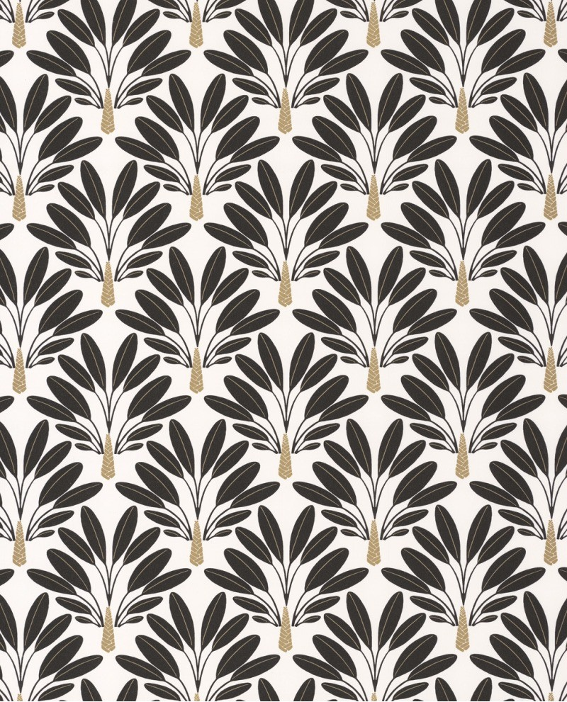 Papier Peint Art Deco Blanc papier peint art déco caselio moonlight traveller tree noir/blanc  mlg101269026