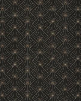 Papier peint géométrique Caselio Moonlight Sunrise Or/Noir MLG101232099