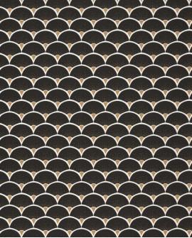 Papier peint géométrique Caselio Moonlight Starlight Or/Noir MLG101139025