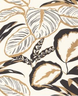 Papier peint exotique Caselio Moonlight Exotic Leaves Or/Noir MLG101082093