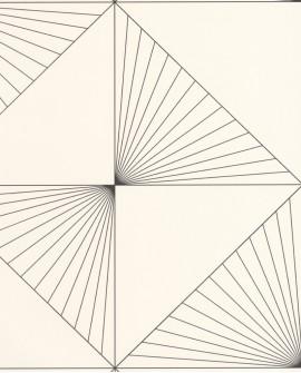 Papier peint géométrique Caselio Moonlight Sunset Noir et beige MLG101069006