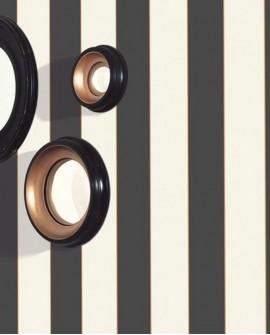 Papier peint à rayures Caselio Moonlight Day and Night Noir et blanc MLG101189001Catalogue  Produits