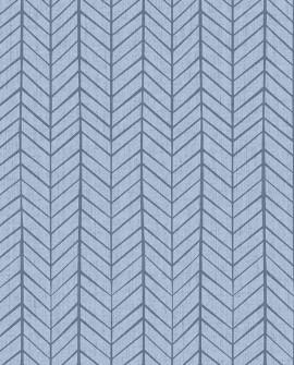 Papier peint enfant Lutèce Babyland Chevrons indiens Bleu 5449