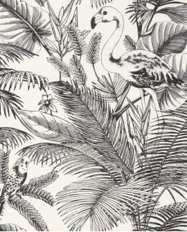 Papier peint exotique Caselio Moonlight Tropical World Noir et blanc MLG101039000