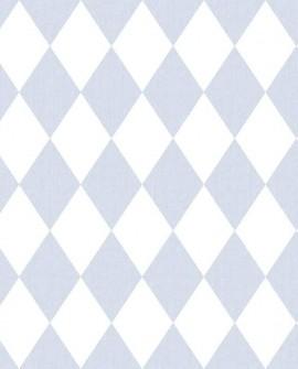 Papier peint enfant Lutèce Babyland Losange Bleu 5429