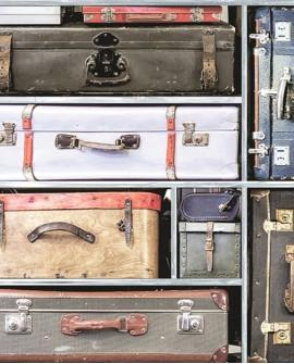 Papier peint anglais Holden Imaginarium Vintage Suitcases multi 11960