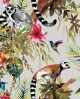 Papier peint tropical Holden Imaginarium Lemur Silver/multi 12401