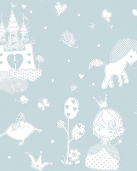 Papier peint enfant Lutèce Babyland Princesse Céleste 5462