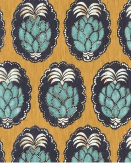 Papier peint tropical Cuba Pina jaune CBBA84352323