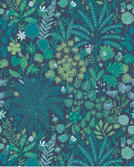 Panoramique Beauty Full Image Tropical Move Vert émeraude /bleu vert BFI101527822
