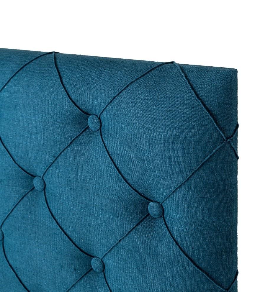 Tete De Lit Bleu Canard Peinture tête de lit tissu thevenon rive gauche bleu canard