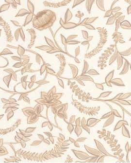Papier peint floral Casélio Mystery Honour Beige/dore MYY101581803