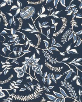 Papier peint floral Casélio Mystery Honour Navy dore MYY101586913