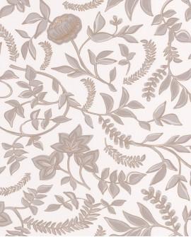 Papier peint floral Casélio Mystery Honour Gris dore MYY101589000
