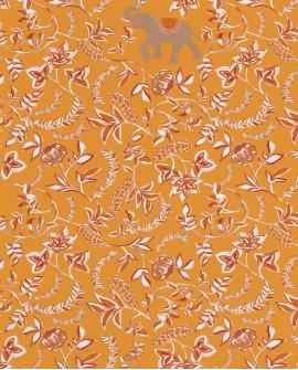 Papier peint floral Casélio Mystery Wisdom Ocre terracotta MYY101592900