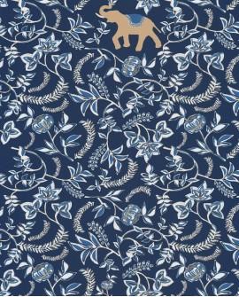Papier peint floral Casélio Mystery Wisdom Bleu indigo MYY101596911