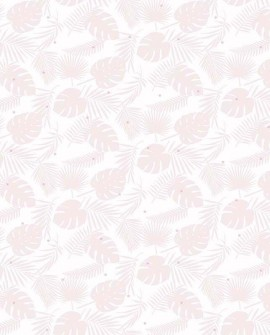 Papier peint enfant Lutèce Babyland Palme Rose pailleté ND21130