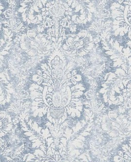 Papier peint Lutece Abby Rose 4 Médaillon Bleu AF37714