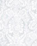 Papier peint Lutece Abby Rose 4 Médaillon Gris clair AB42424