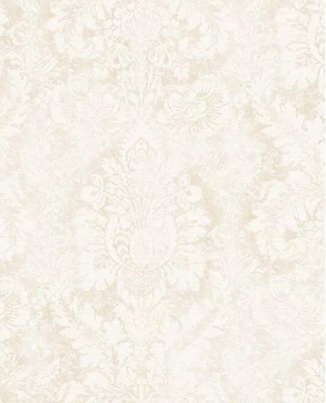 Papier peint Lutece Abby Rose 4 Médaillon Beige AF37713
