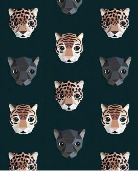 Papier peint pour enfant Studio Ditte Panthera Dark
