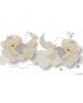 Frise enfant Lutèce Babyland Miss Nounours Gris 5491