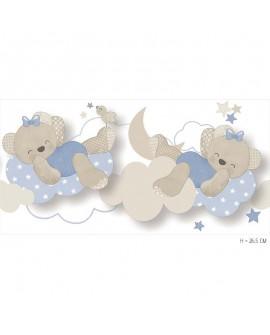 Frise enfant Lutèce Babyland Miss Nounours Bleu 5493