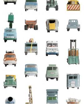 Papier peint pour enfant Studio Ditte Work Vehicles
