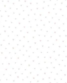 Papier peint enfant Lutèce Babyland Petits coeurs Rose ND21124