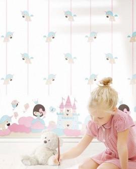 Frise enfant Lutèce Babyland Petite Princesse Bleu 5499