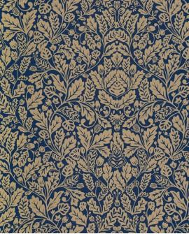 Papier peint glamour Casélio Mystery Protection Bleu doré MYY101616606